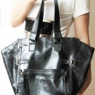 Soft and Smooth Genuine Leather Black Color Tote Bag