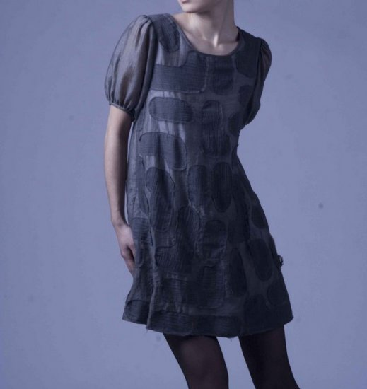 Dark gray patch dress