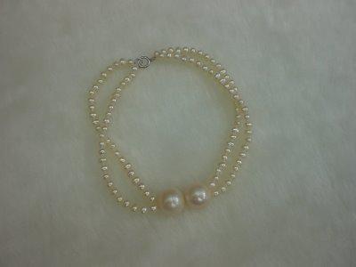 Natural freshwater pearl bracelet
