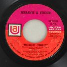 "Ferrante & Teicher 1969 ""Midnight Cowboy"" 45 United Artists"