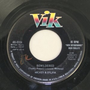 Mickey & Sylvia-Bewildered/Rock and Stroll Room-ViK Records-45 Record