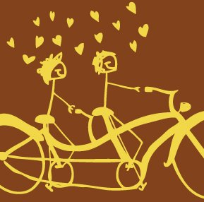 """""""Bicycles are for Lovers"""" tee-shirt for HIM"""