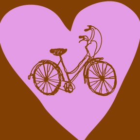 """Bike Heart"" tee-shirt for HIM."