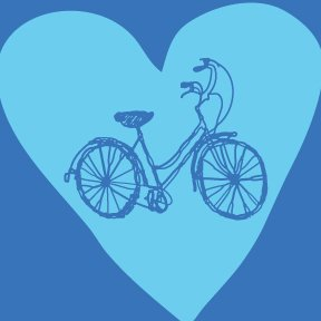 """Bike Heart"" tee-shirt for HER."