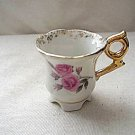 Sonsco Japan Miniature Cup - Floral Design & Gold Accents