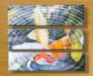 SOFT KOI  (TRIPTYCH) (8 x 30) X THREE