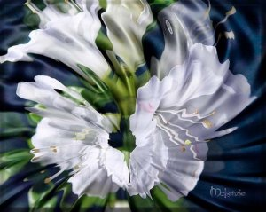 """LIQUID AZALEAS"" Hand Embellished Giclee  (24 x 30)"