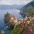 ---- ON SALE.....$100 off.....Tuscany Italy ART Vernazza Cliffs Italian PAINTING