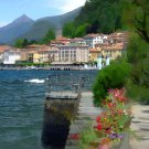 Tuscany ART Bellagio Coast shoreline Italian  PAINTING