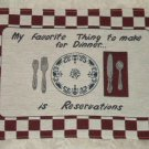Make Reservations Riverdale Tapestry Fabric Placemats