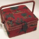 Palm Tree Sewing Basket Jewelry Box or Cosmetic Storage