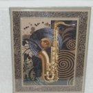 Saxophone Wall Decor Vinyl Record Nostalgic Music Art