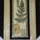 Leaves and Ferns Wall Art Framed Glass