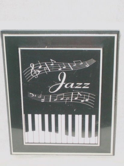 Jazz music wall decor plaque with piano