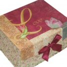 Love Trinket Jewelry Box Pink Floral Crafts Keeper