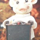 Country Cow Chef Figurine Chalkboard Memo Board