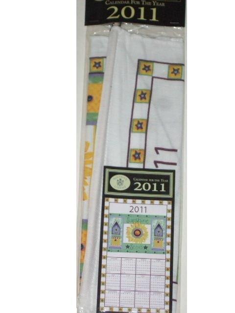 Sunflowers Birdhouses 2011 Wall Calendar Cloth Towel