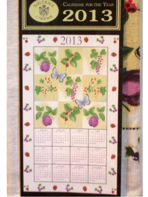 Fruit and Butterflies 2013 Calendar Towel