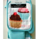 Cupcakes Kitchen Linen Set 7 Pieces