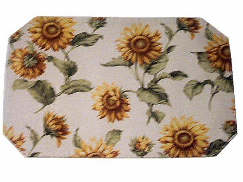 Sunflower Damask Placemats