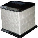 Waverly Tissue Box Cover Enameled Metal