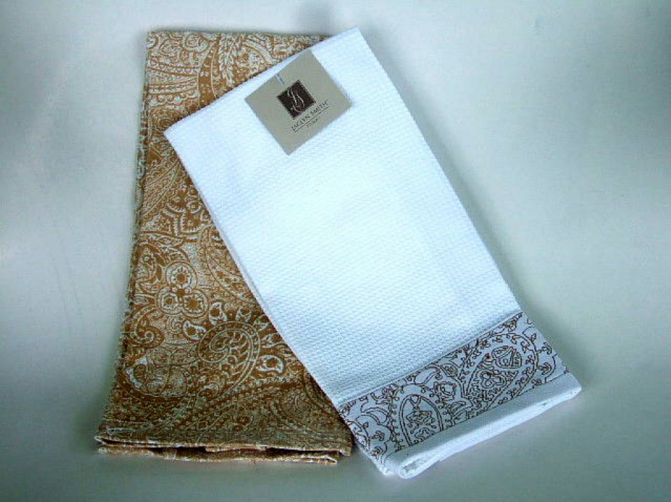 Jaclyn Smith Paisley Kitchen Towels Set
