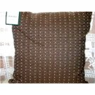 Waverly Toss Pillow Cocoa Praline City Block