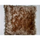 Beige Faux Fur Throw Pillow Northpoint
