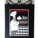 Fat Chef Kitchen Picture Wall Plaque Chefs Decor