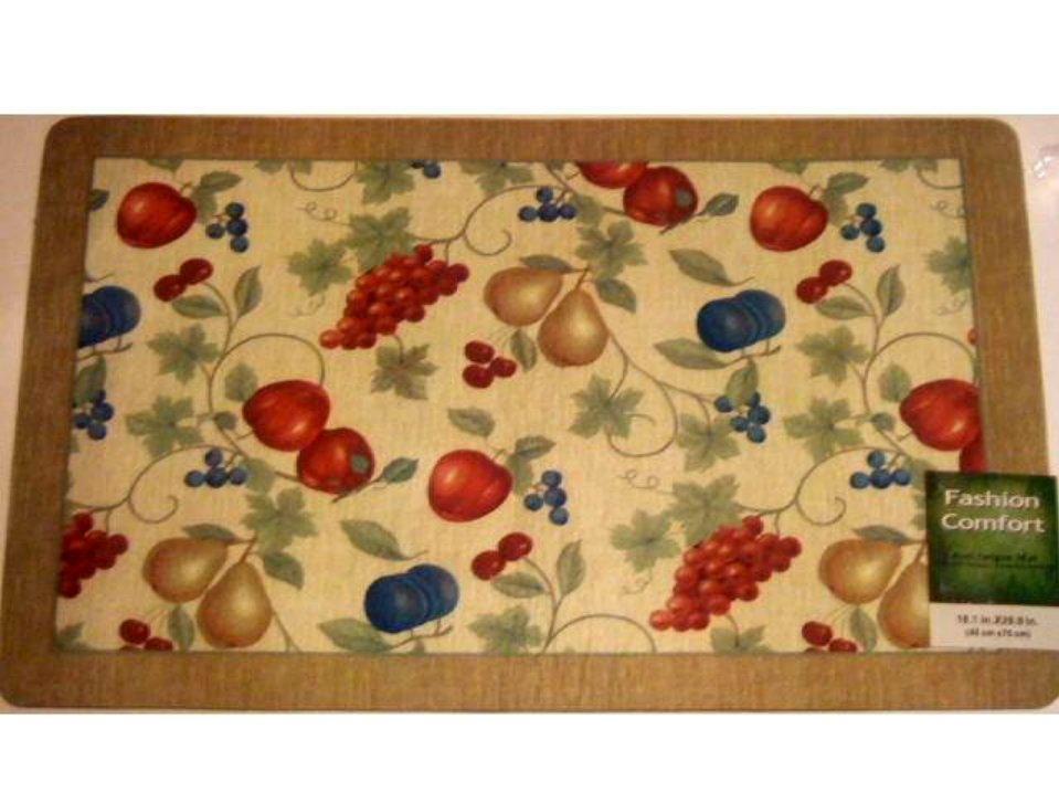 Fruit kitchen rug sets fruit 2 pc kitchen rug set fruit patch cherry three kitchen rug set - Grape design kitchen rugs ...