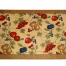 Apples Pears Grapes Cherries Fruit Kitchen Rug Comfort Mat