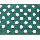 Turquoise Dots Throw Rug Bath Mat