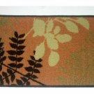 Botanical Leaves Ferns Bath Mat