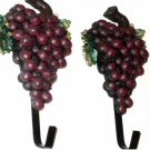 Clusters of Grapes Resin Wall Hooks