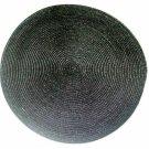 Black Round Placemats Set