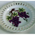 American Atelier Grapes Earthenware Wall Plate