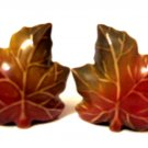Autumn Leaves Salt Pepper Shakers Fall Decor