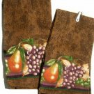 Grapes Pears Fruit Kitchen Towels Autumn Decor