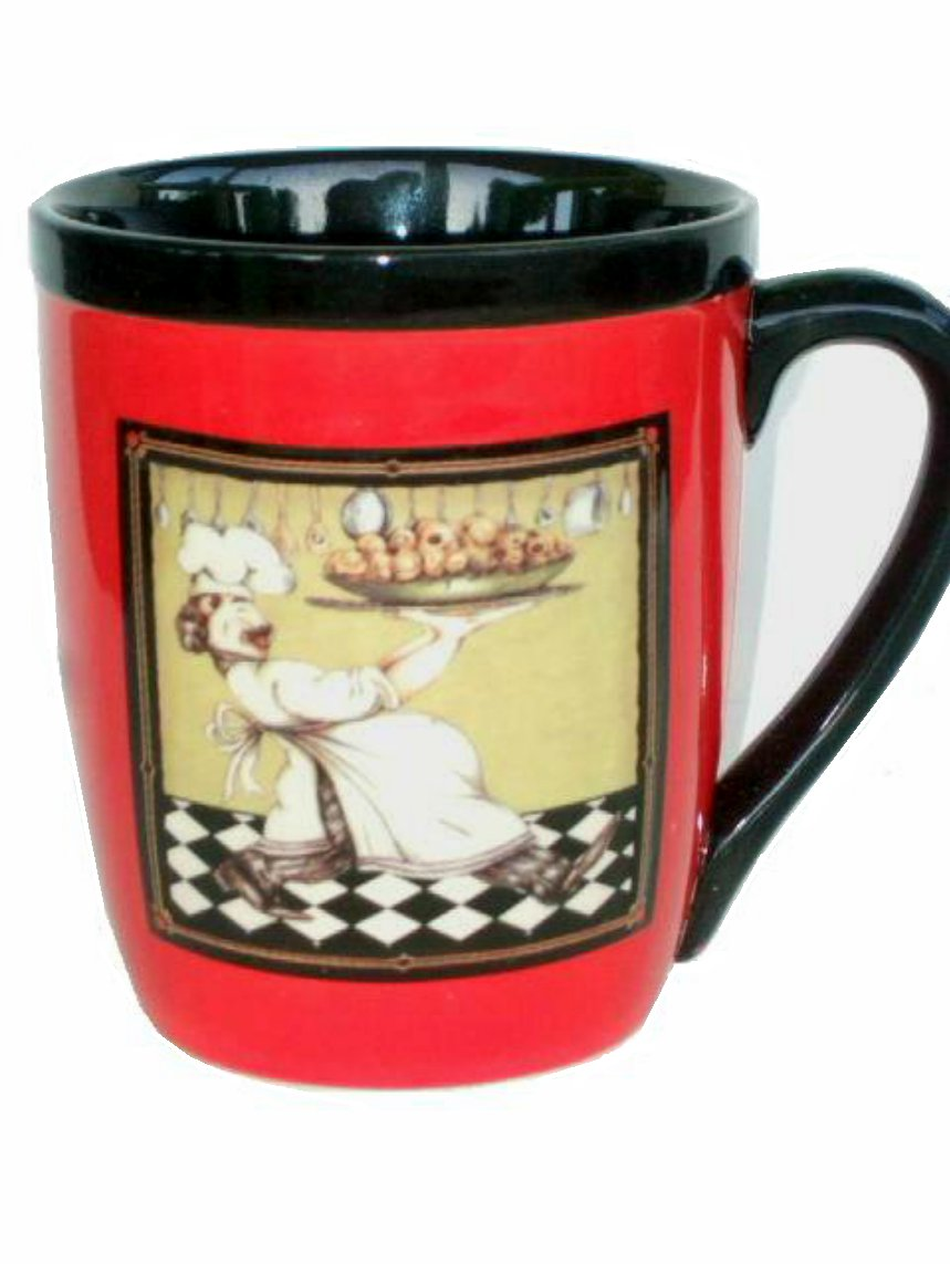 Red Fat Chef Coffee Cup Mug