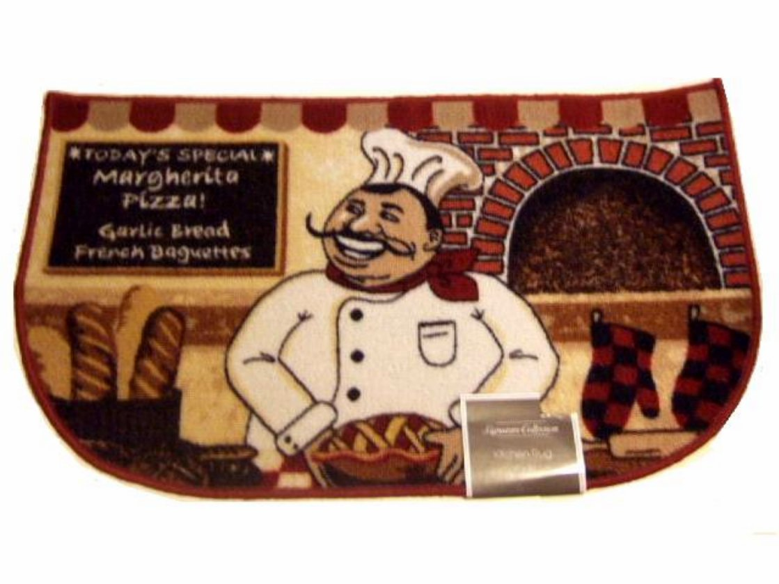 Fat Italian Chef Kitchen Rug