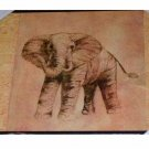 African Safari Elephant Wood Wall Plaque Art