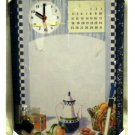 Teapot and Fruit Memo Board Clock