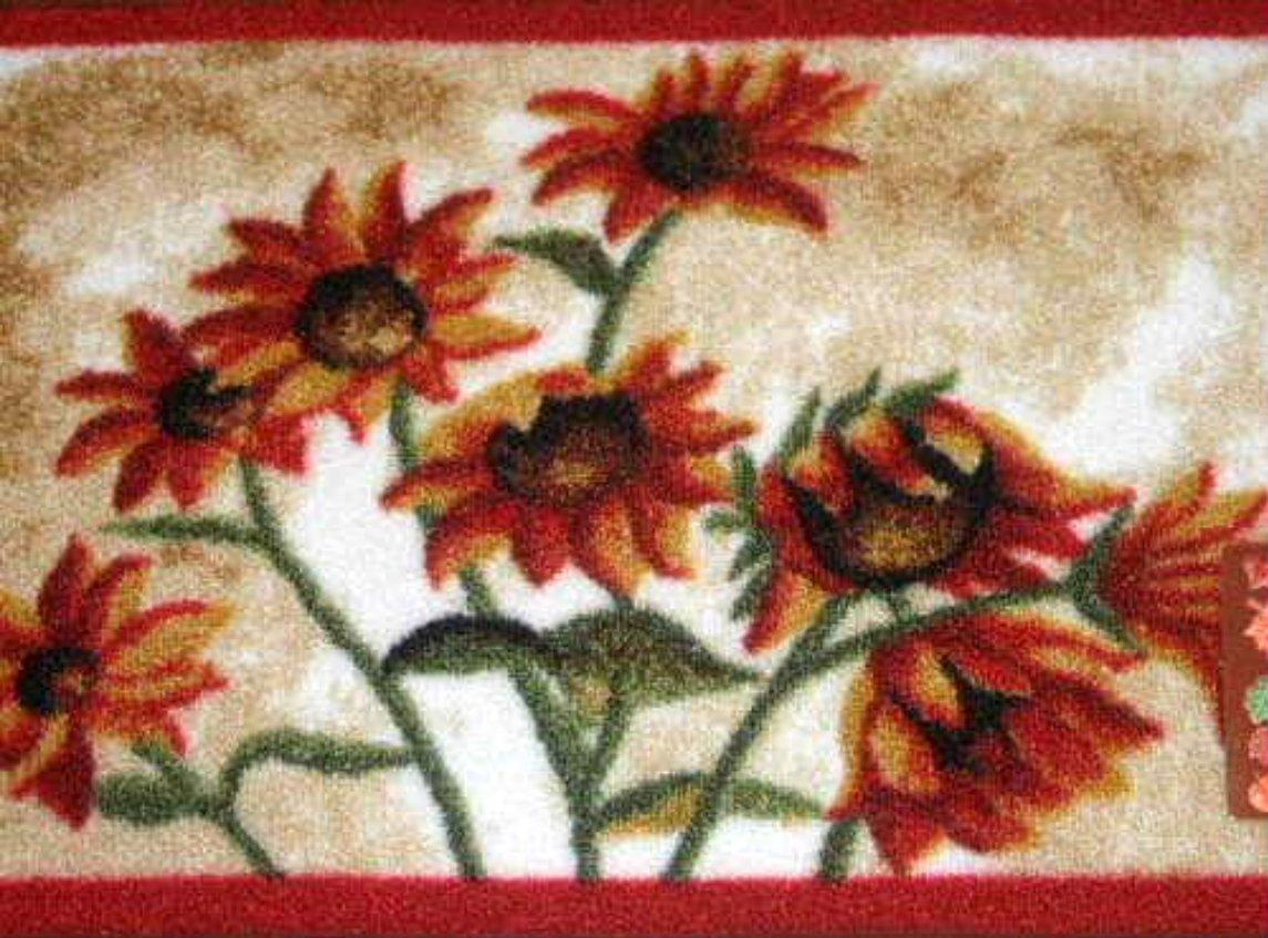 Sunflowers Throw Rug Sunflower Home Decor