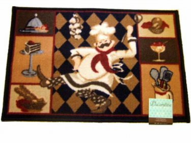 Dancing Fat Chef Kitchen Rug