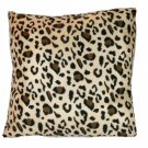 Leopard Print Toss Pillow African Safari Decor