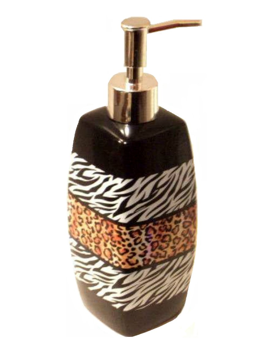 Animal Print Lotion Pump Leopard Zebra
