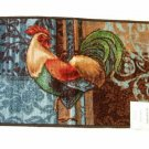 Rooster Kitchen Rug Blue Brown