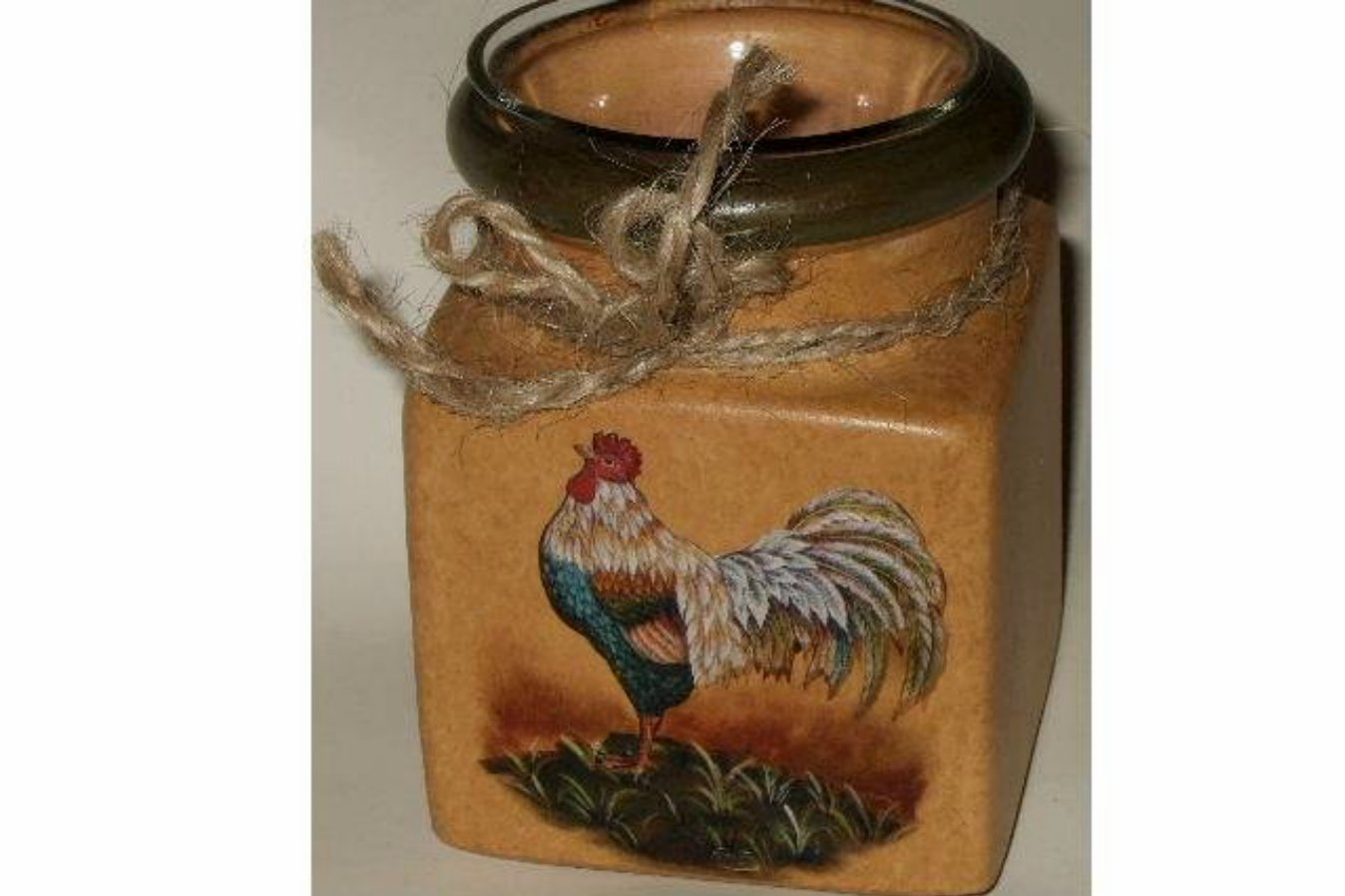 Golden Rooster Votive Candle Holder