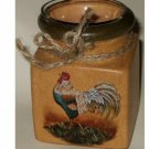 Golden Rooster Votive Candle Holder