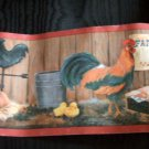 Country Roosters Wallpaper Border Hens Eggs